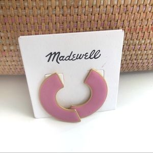Madewell Millennial Pink Half Circle Earrings! NWT